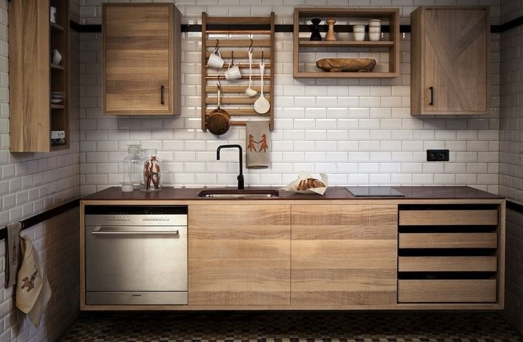 diseños de cocinas calidas con madera
