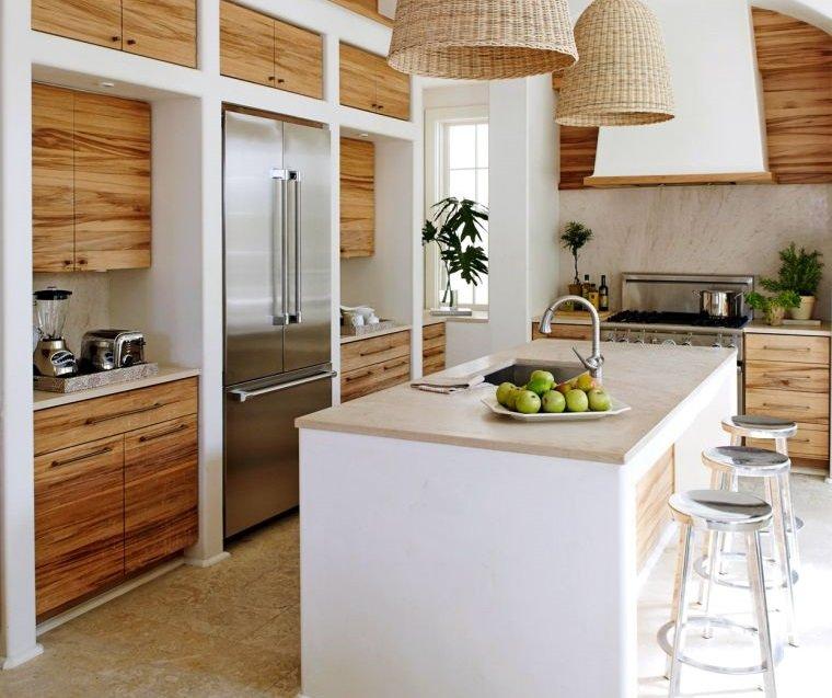 diseños de cocinas con estilo organico