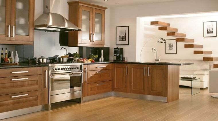 diseños de cocinas con madera