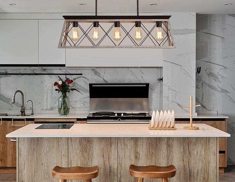 diseños de cocinas iluminacion