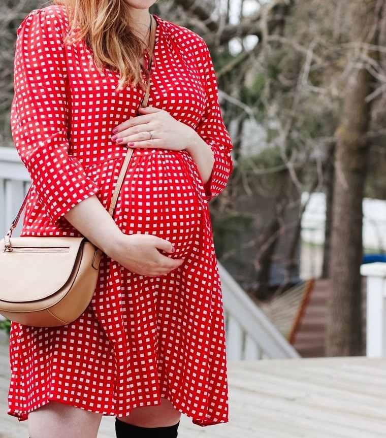 ropa para embarazadas vestido de cuadros