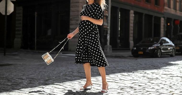 ropa para embarazadas vestido de lunares