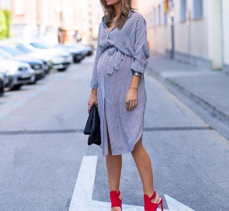 ropa para embarazadas vestido de rayas