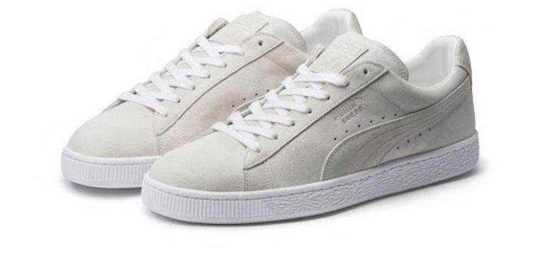 zapatos blancos de gamuza mantenimiento