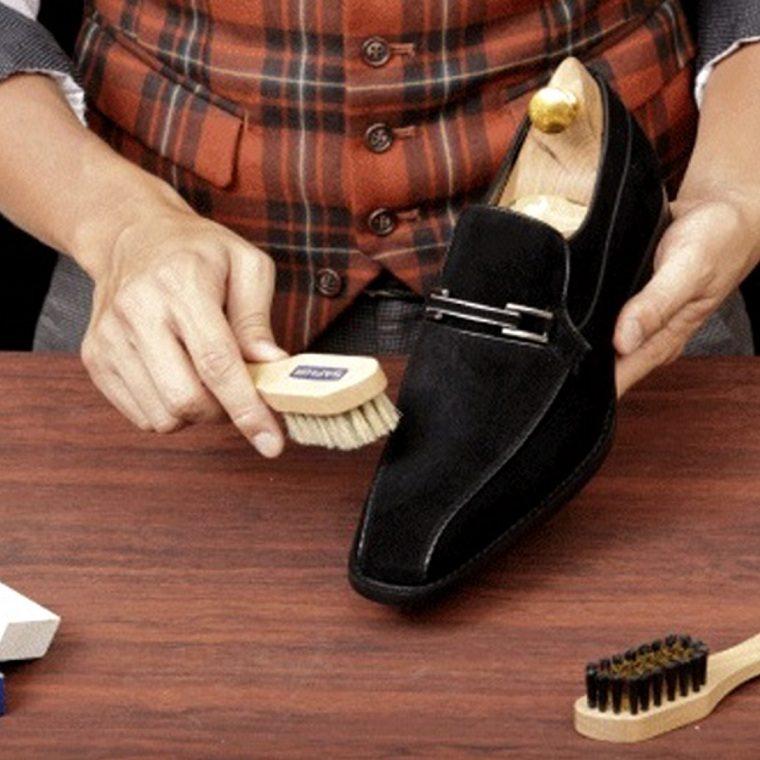 zapatos de cuero nobuk-hombre